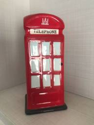 Cofre de moedas telephone britânico decoração