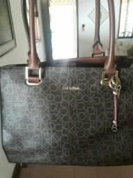 Bolsa Calvin Klein original luxo importada 100% couro