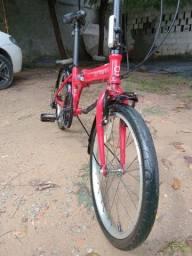 Bike durban dobrável 6 velocidades