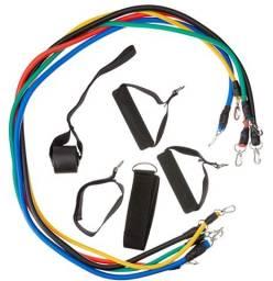 Esgotando Rápido: Tubing Kit 11 peças Elásticos para Exercício Extensor Funcional