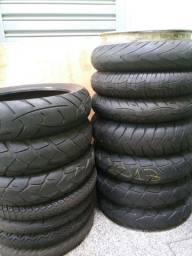 Vendo pneus de moto usados ,bom pa vender moto
