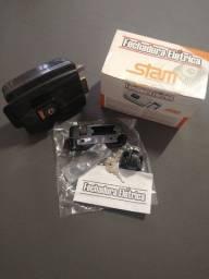 Fechadura elétrica Stam 40mm abre para dentro cor: grafite