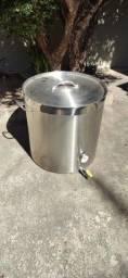 Caldeirão panela cerveja artesanal Aço Inox 304 165 litros com válvula e termômetro