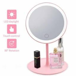 Espelho com Luz de Led P/ Maquiagem Ajustável ??:
