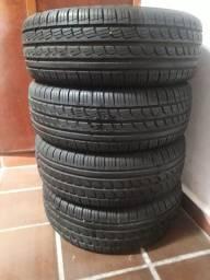 Rodas aro 15 ferro pneus 195 60 15 remold semi novos