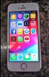 Iphone 5s prata, icloud livre, biometria normal muito novo com bateria nova