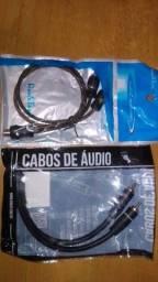 promoção,cabo Y audio,som automotivo zerados 10 a unidade * ac cartão