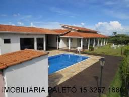 REF 412 Chácara 1000 m² frente para lago do condomínio - Imobiliária Paletó