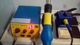 Estação solda e retrabalho Ar quente Yaxun 881D. 110V ~ 127V e 50/60Hertz