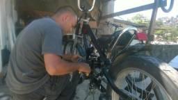 Manutenção e montagem de bicicleta motorizada