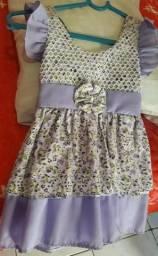 Vestido infantil tamanho M por 10