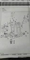 Pivo do giro Retroescavadeira MF 750