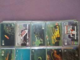 Coleção cartões telefônicos Airton Senna e outros