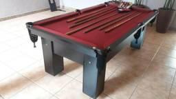 Mesa de Bilhar Tecido Bordo Cor Preta Modelo THT4154