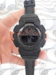 Relógio Casio G-Shock GA-100 Preto Fosco