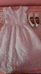 Vendo Esse Vestido Branco Infantil Pra Eventos !