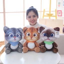 Pelúcia para gatos, 1 peça de 20cm, animais de pelúcia, desenhos animados