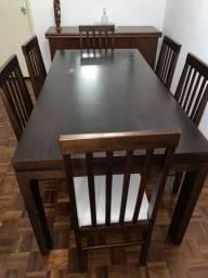 Mesa e cadeiras jantar