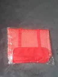 Kit Com 3 Bolsas De Praia Renda Transparente