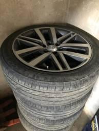 Vende se rodas e pneus aro 22 original da Hilux ou sw4 - 2019