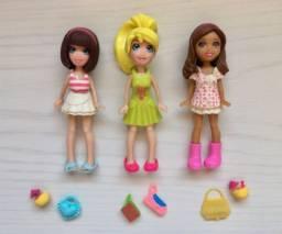 3 bonecas Polly Pocket