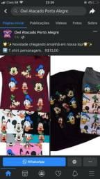 Camiseta Infantil Personagem 12,00