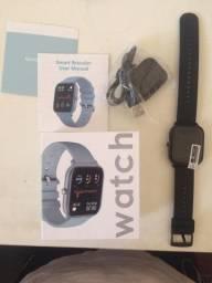 Relógio inteligente Smartwatch Colmi P8 Bluetooth - pulseira preta Novo