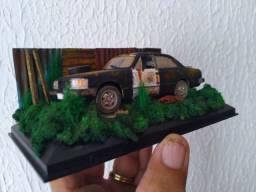 Miniatura customizada opala preto abandonado