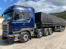 Scania R 440 8x2 2015 e carreta Randon 2017