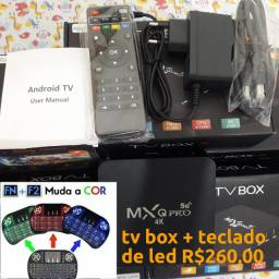 Tv Box MXQ pro 5G 64 gigas de memoria e 8 de ram androide 11.1