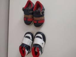 Tênis e sandália tamanho 18 e 19