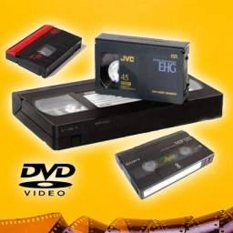 Conversão Fitas VHS para DVD, PENDRIVE ou HD