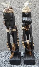 Objetos de decoração africanos