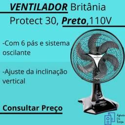 Ventilador, Protect 30, Preto, 110V, Britânia Novo na Caixa - Catanduva - São Paulo