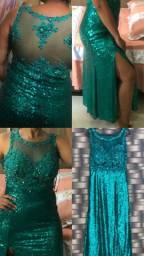 Vendo vestido verde elegante