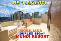 Apartamento No Mundi Resort Residencial// 3 Suítes sendo uma master