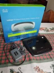Modem/Roteador Wag120n Cisco Linksys