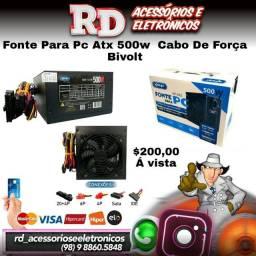 FONTE PARA PC ATX 500W REAIS