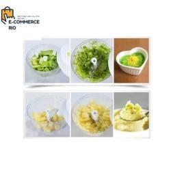 Triturador Corta Alimentos Frutas Verduras Legumes Speedy Hopper Nicer Dicer3 Lâminas<br>