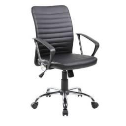 Cadeira de Escritório Diretor Giratória Oslo Preta
