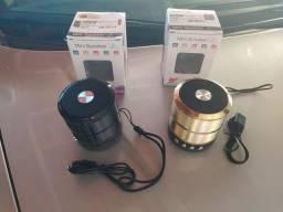 Caixinhas de som Bluetooth, FM, Novas, Leia