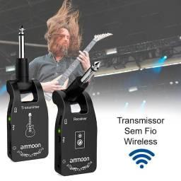 Transmissor e Receptor 2.4g Wireless Sem Fio Tocar de Longe Guitarra Violão Baixo Ukulele