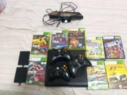 Xbox 360 super slim ano 2015 com 3 controles