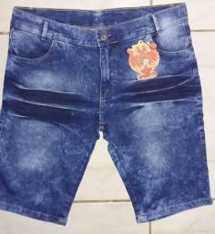 Bermudas jeans atacado 28,00