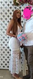 Vestido branco usado apenas uma vez