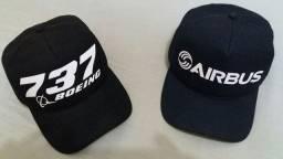 Bonés Airbus e Boeing 737