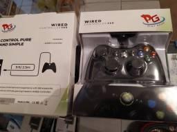 controle com fio xbox 360 a novo na caixa primeira linha PG play game