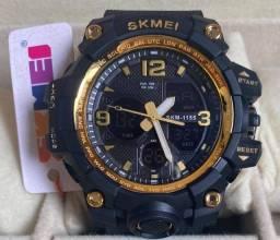Relógio Grande Analogico/ Digital Esportivo Skmei novo original (aceito cartão