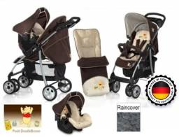 Carrinho de bebê com bebê conforto Hauk importado