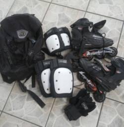 Patins 42 + kit. Proteção